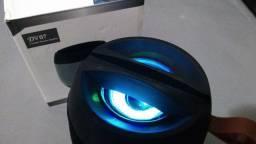 Caixa de som bluetooth cartao de memoria pen drive radio fm. Iluminação autofalante