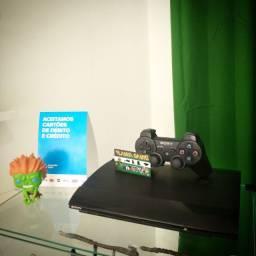 VENDO PS3 SUPER SLIM DESTRAVA 250GB+ 15 JOGOS+ 3 MESES DE GARANTIA