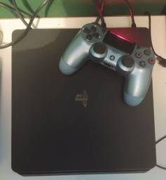 PS4 SLIM SUPER NOVINHO E COMPLETO