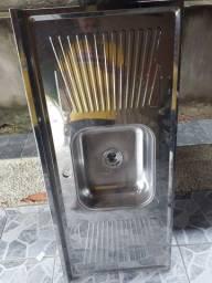 Pia Cuba Aço Inox 120x12cm Standard<br>