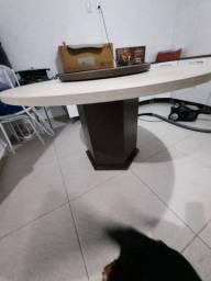 Mesa com centro giratório 6 lugares