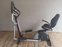 Bicicleta Ergométrica Horizontal+Elíptico Double Dream 5000D