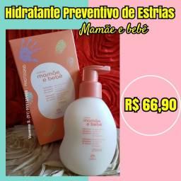 Hidratante preventivo de estrias mamãe e bebê