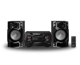 Mini System Panasonic Sc-akx220lbk 450w Usb Bluetooth Bivolt