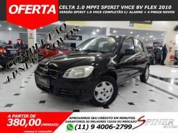 Chevrolet Celta 1.0 Mpfi Spirit VHCE 8v Flex 4p Completo Excelente Estado 4 Pneus Novos