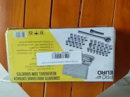 Maleta soquetes chave reversível 40 peças sem uso no centro de São Gonçalo