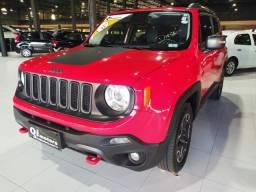 (G)Jeep renegade 4x4 diesel vermelha com bancos de couro 2016