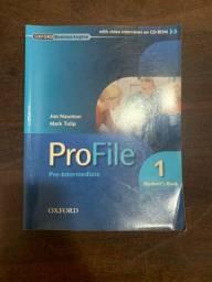 Livro de inglês intermediário- Pro File Oxford + CD