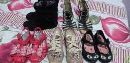 Lote de sapatinhos de menina 15$ cada, todas por 50$