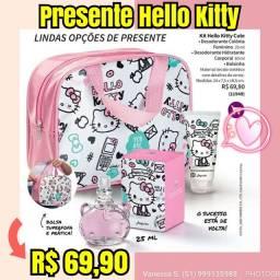 Presente hello kitty com bolsa