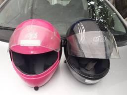 2 capacetes ( 1 ebf ) pouco usados barato 85,