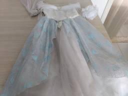 Vestido + acessórios Disney Princesas T 9-10