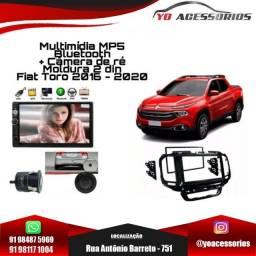 Título do anúncio: Multimídia MP5 Bluetooth + Câmera de ré + Moldura 2 din Fiat Toro 2016 - 2020