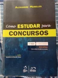 """Título do anúncio: Livro """" Como estudar para concursos"""" - Alexandre Meirelles"""