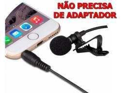 Mini Clip-on Lapela Microfone Para Celular Condensador 3.5mm P2
