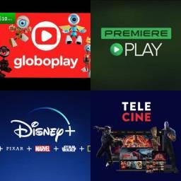Telas Globoplay, Disney+, Premiere Play, Tele Cine e etc...