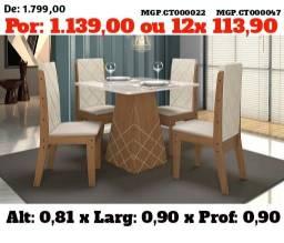 Super Promoção em MS- Conjunto de Mesa de 4 Cadeira- Mesa de Jantar 04 Cadeira