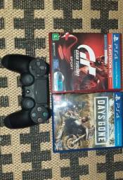 Controle PS4 + Jogos