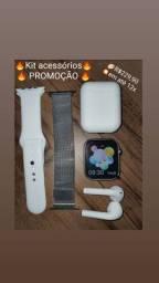 SmartWatch x7 44mm +Pulseira Milanese + Fone Bluetooth inpods 12