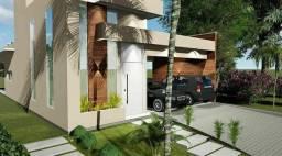 Casa plana em construção a venda no Jardins da Serra