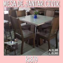 MESA DE JANTAR CIVIK COM 04 CADEIRAS
