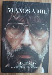 Combo Lobão: 1 Livro Biografia Lobão 50 anos a mil + 1 DVD + 2 CDS