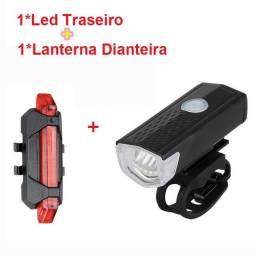 Título do anúncio: Lanterna de bicicleta dianteira e traseira recarregável