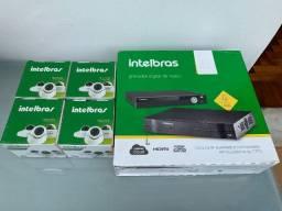 Kit Intelbras com DVR + 4 Câmeras (3 720p e 1 Full HD)