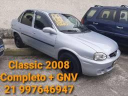 Chevrolet Classic 2008 completo + GNV. Troco/Financio 48x