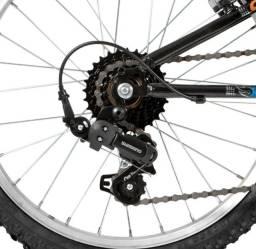 Bicicleta Caloi Hot Wheels Cideck Aro 20 Preto 7 Marchas