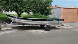 Barco carreta e motor - 2015