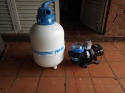 Bomba e filtro para piscina novo