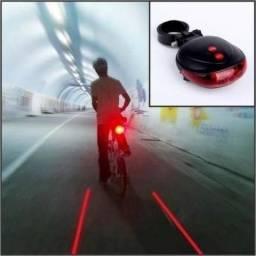 Sinalizador Traseiro para Bike Led ( Com Laser ) Ciclovia Instantânea