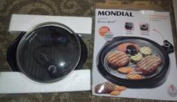 Panela elétrica grill Mondial redonda.220V apenas.Modelo G04 Teflon