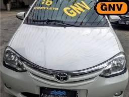 Etios sedan 1.5 xls flex - gnv - completo - 60 mil km - ( otimo uber ) novo - 2016