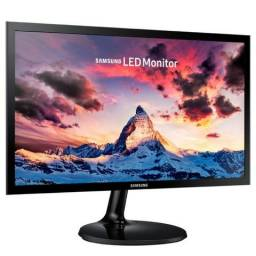 Monitor Led 21.5 Samsung Ls22F350Fhlmzd, 5Ms, 60Hz, Full Hd, Hdmi, Vga, Ultra Fino, Preto,