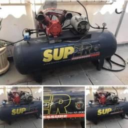 Compressor Super Press 10 pés 200 litros 2HP