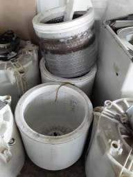 Tanque cestos tampas fixas pra lavadoras de roupas