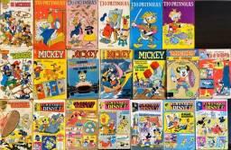 Lote/Coleção de Livros HQs/Gibis Antigos da Walt Disney