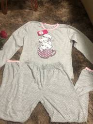 Pijama juvenil tamnho 11 até 16 depender da pessoa