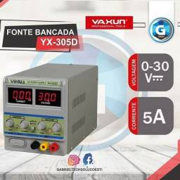 Fonte Bancada Assimétrica Yaxun 305d 30 Volts E 5 Amperes