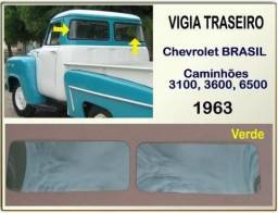 Vigia Traseiro Chevrolet Brasil 63 Laminado Verde Par