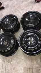 Jogo de rodas de aço Fiat