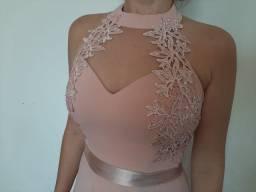 Vestido de festa rose / nude