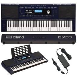 Vendo Teclado Roland EX30 zero bala, aberto para conferir