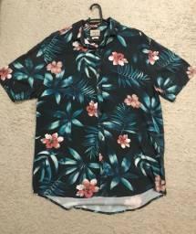 Camisa botão floral TAM P