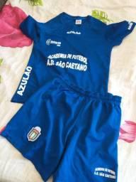 Uniforme futebol Azulao Sao caetano  tam. g  e  p