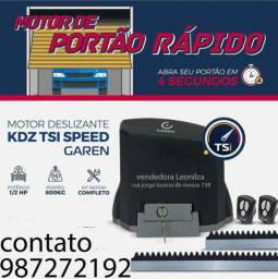 Kit Motor Garen Speed 1/2HP, Ultra Rápido (4 segundo) p/ Portão com instalação