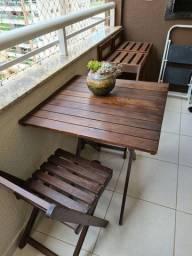 Mesa para varanda com cadeiras