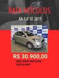 OFERTA RAFA VEÍCULOS!!! KA 1.0 SE 2015 R$ 30.900,00 COM 1000 DE ENTRADA- GGT